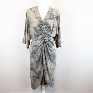 JOIE | Sorina Twist Front Midi Dress Tie Dye